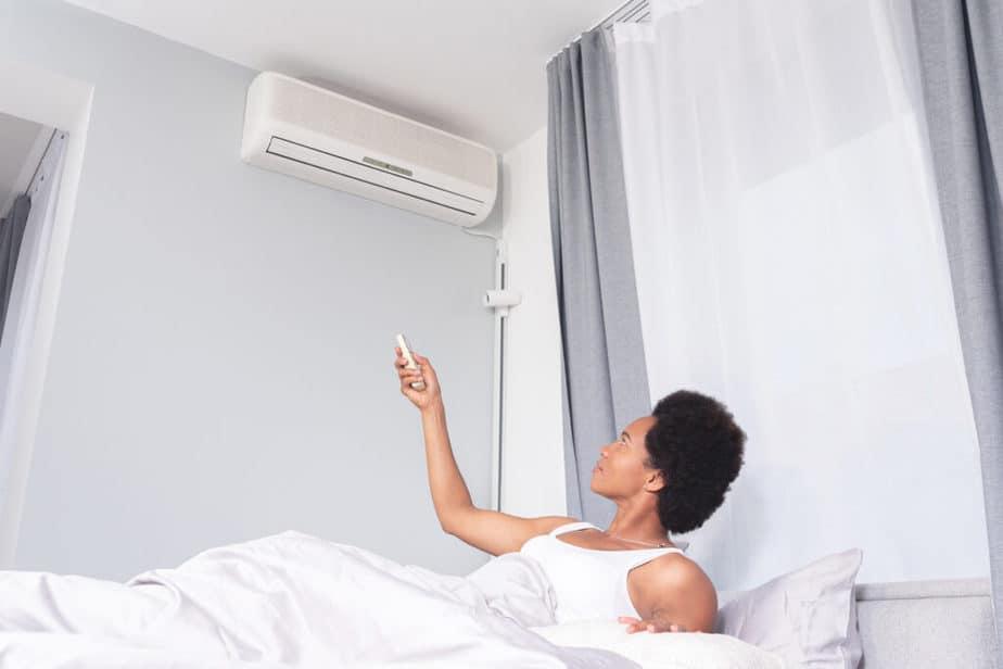 Vaste airco voor de slaapkamer